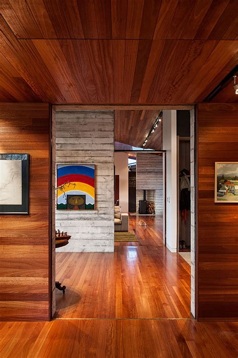 chic wooden interior residence  wairau valley