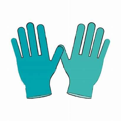 Gloves Medical Latex Vector Clip Glove Illustrations