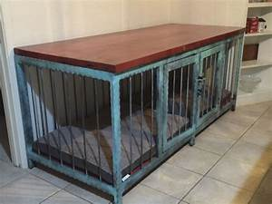 dog crate that also is a fancy piece of modern industrial With custom wood dog kennels