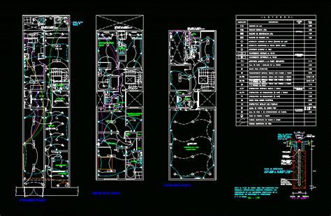 instalacion electrica dwg block  autocad designs cad