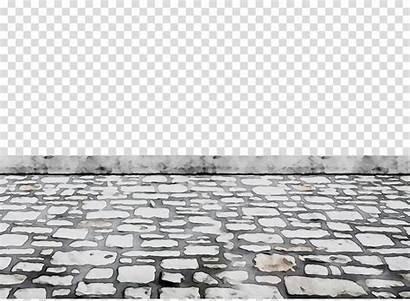 Floor Clipart Road Cobblestone Transparent Cartoon Brick