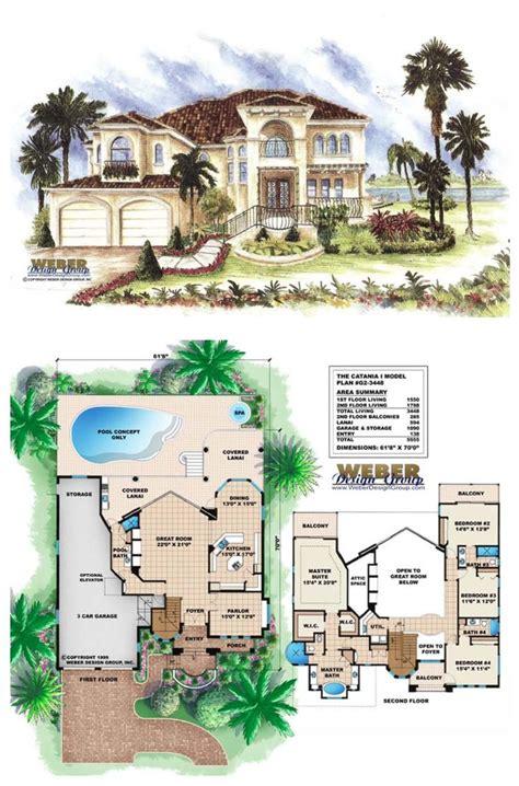 mediterranean house plan  story luxury home floor plan