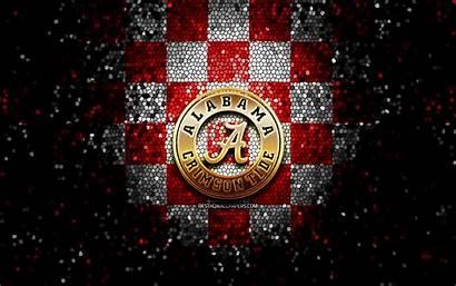 Football Checkered Team Background Glitter Alabama Crimson