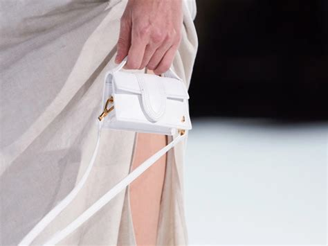 jacquemus debuts  brand  tiny bag   latest runway show purseblog