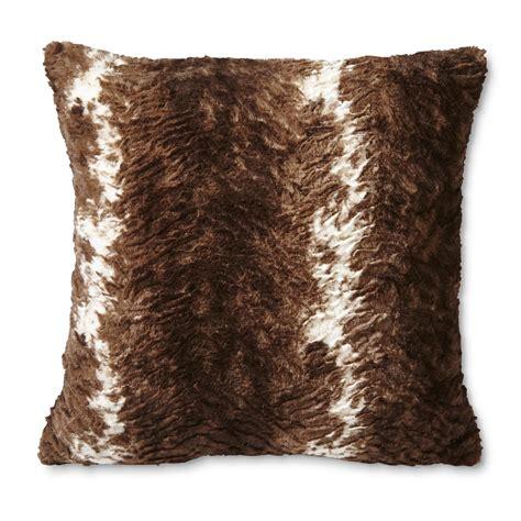 faux fur decorative pillows cannon faux fur throw pillow cowhide pattern home