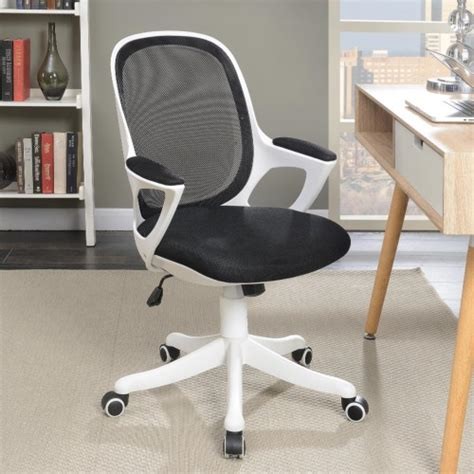 office chairs black and white office chair home elegance