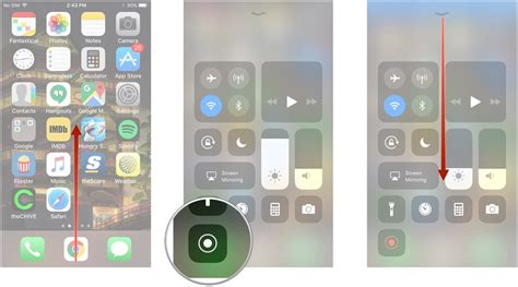 swipe up on iphone how to record your iphone or s screen in ios 11 imore