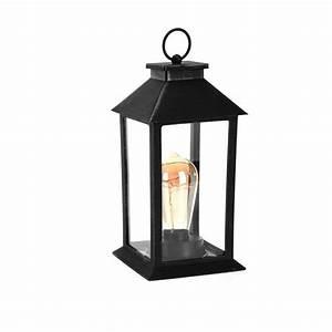 Lanterne De Noel : lanterne de no l izaline ampoule edison noir led illumination pour la table eminza ~ Teatrodelosmanantiales.com Idées de Décoration