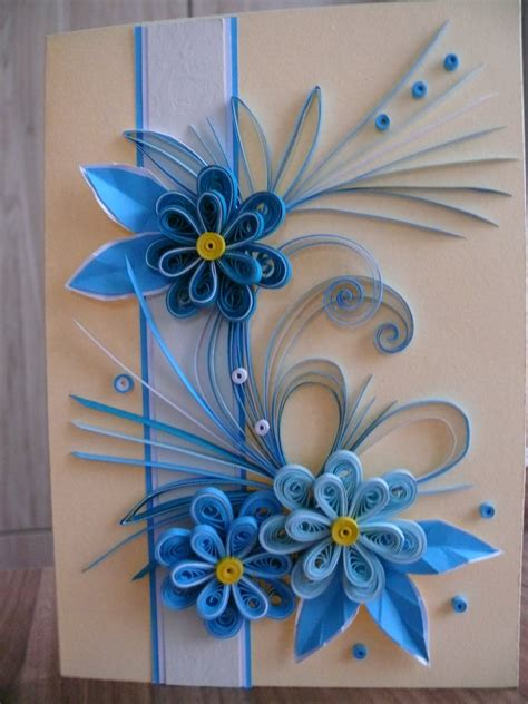 quilling card birthday card greeting card quilling