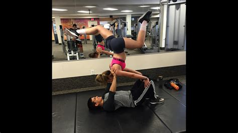 Maybe you would like to learn more about one of these? Training Partner Is A Girl? Featuring Shoulders:Abs/Gymnastics! - YouTube