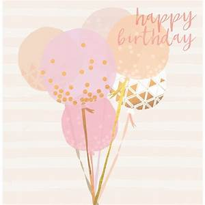 Beautiful birthday card featuring balloons, contemporary ...