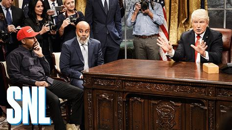 Snl Parodies Kanye West's Absurd Oval Office Meeting With Donald Trump