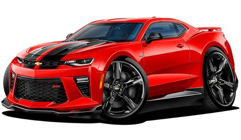 2016 Chevy Camaro Rs Ss Cartoon Car Wall Decal Sticker Graphic Man Cave Room New
