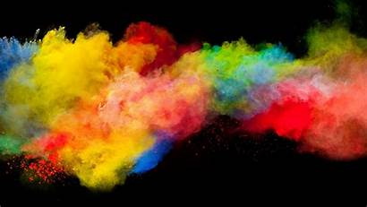 Powder Explosion Colorful Background Desktop