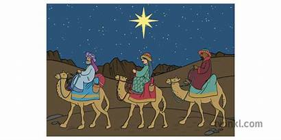 Wise Desert Camels Three Kings Riding Twinkl