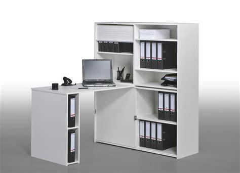 bureau angle avec rangement bureau informatique contemporain avec rangement chêne
