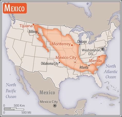 north america mexico  world factbook central