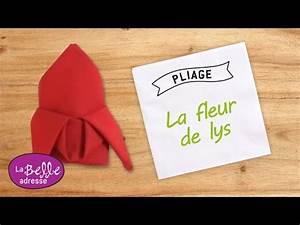 Pliage De Serviette En Tissu : pliage de serviette en tissu la fleur de lys ~ Nature-et-papiers.com Idées de Décoration