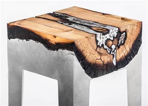hilla shamia casts tree trunks  aluminium  create