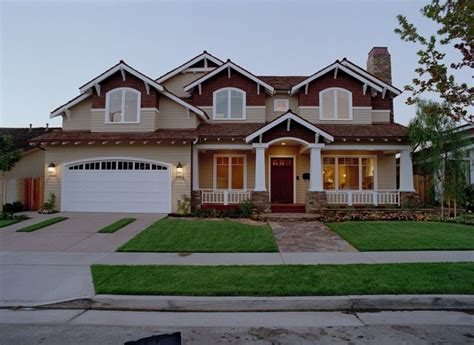 California Craftsman Style Home Traditional Exterior