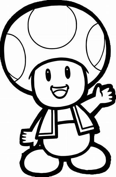 Coloring Pages Cartoon Mushroom Mario Super Bros