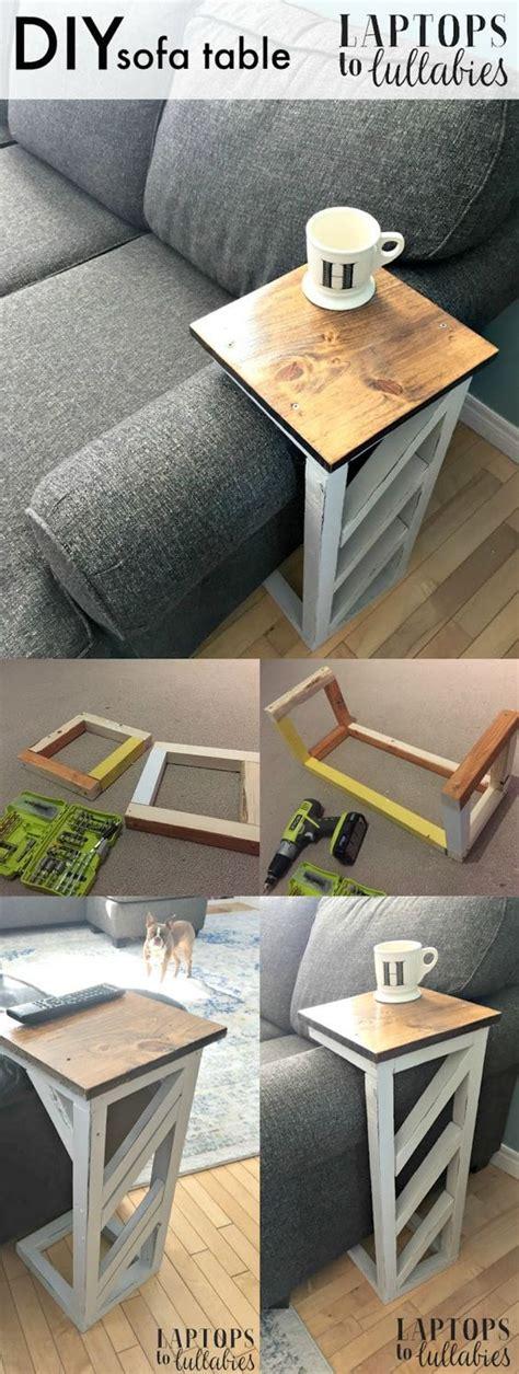 easy diy console table  sofa table ideas hative