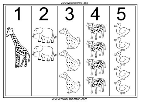 Numbers For Toddlers Printable