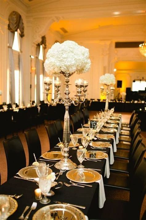 54 Black White And Gold Wedding Ideas Gold Black and