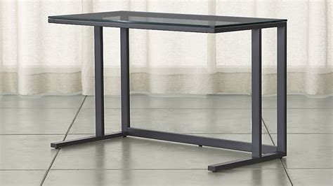 Crate And Barrel Rex Grey Desk L by Pilsen Graphite Glass Desk Crate And Barrel