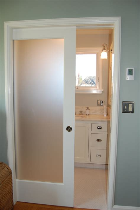bathroom door ideas frosted glass pocket door door styles