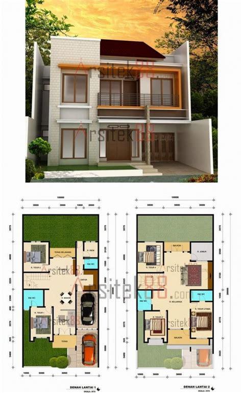 sketsa rumah minimalis  lantai modern house