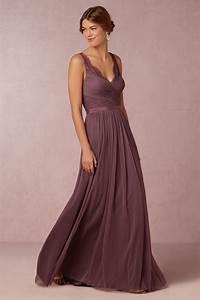 Chiffon purple elegant long bridesmaid dress budget for Purple long dress for wedding