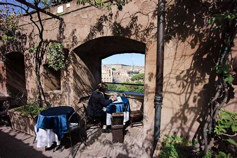 lunch   view castel santangelo   italy