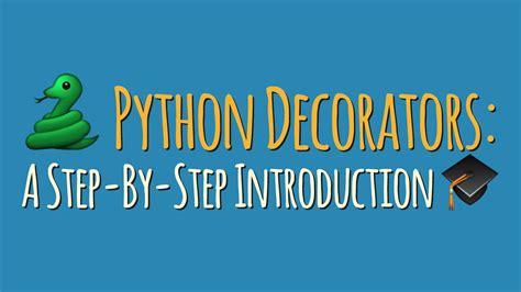 Python Decorators In Classes by Python Decorators A Step By Step Introduction Dbader Org