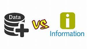 Data vs Information - Information - YouTube  Information