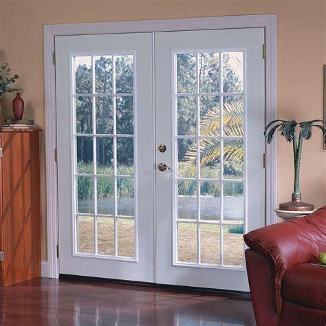 masonite patio doors image masonite 72 in x 80 in prehung left inswing 15 lite