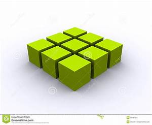 Green 3d cube square stock illustration. Image of ...