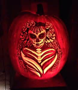Sugar Skull Pumpkin Stencils 2015 by Editor S Desk Week Of October 30 2015 Nonbinary Review