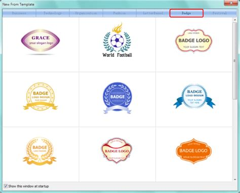 how to select a template in sothink logo maker