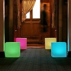 Battery Powered Video Lights Light Up Cube Seat