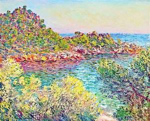 """Painting """" Landscape near Montecarlo """" ( Cc Claude Monet"""