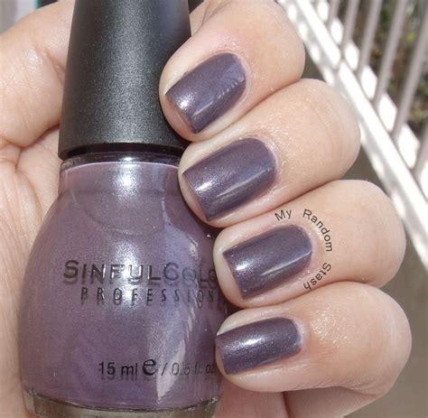 sinful colors nail polish winterberry  gray ish plum