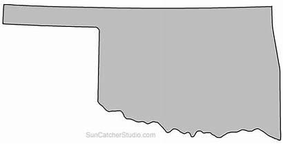 Oklahoma Outline Stencil State Map Shape Printable