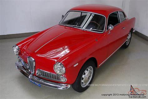 1962 Alfa Romeo Giulia Sprint 1600