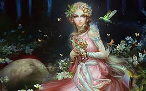 Beautiful, Fairy, Fantasy, Girl, Mythical, Creature, In, The, European, Folklore, Form, Of, The, Spirit