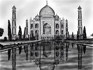 Taj Mahal Sketch by Cifercrossing on DeviantArt