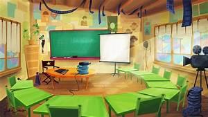 Background design: cinema classroom. - Julia Sanz Illustration
