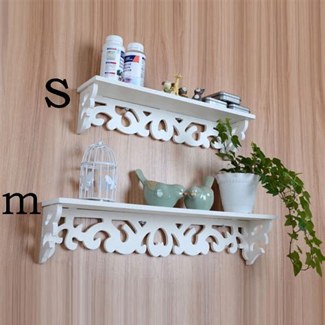 Decorative Storage Shelves - white wood home decorative wall shelf set display floating