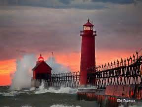 Grand Haven Pier Lighthouse Day