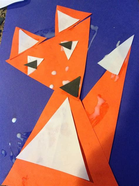 triangle template for kid craft triangle craft for kindergarten the backup learning